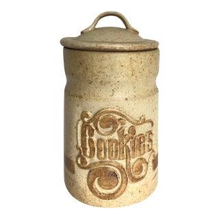 Vintage Lidded Cookie Jar