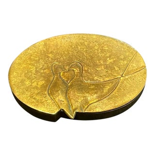 French Sculptured Gilt Bronze Box by Line Vautrin For Sale