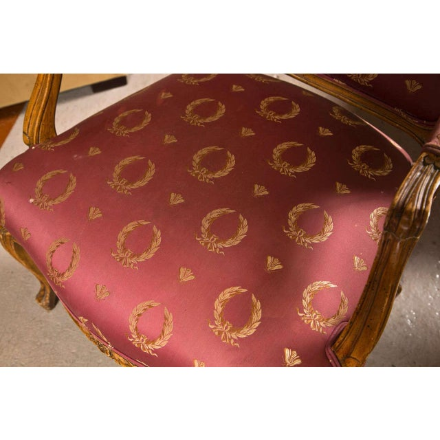 French Louis XV Style Walnut Fauteuils - A Pair For Sale - Image 4 of 9