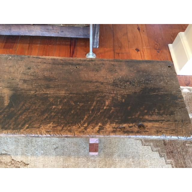 Antique Spanish Brown Bench For Sale - Image 4 of 6