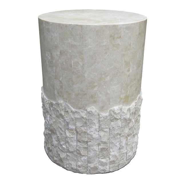 20th Century Vintage Marquis Collection of Beverly Hills Postmodern Tessellated Stone Pedestal / Pedestal Table Base For Sale - Image 13 of 13