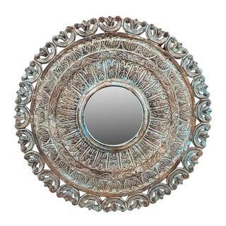 Carved Wood Framed Mirror
