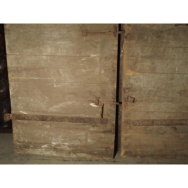 1700s Antique French Oak Doors From Burgundy- A Pair For Sale - Image 10 of 13