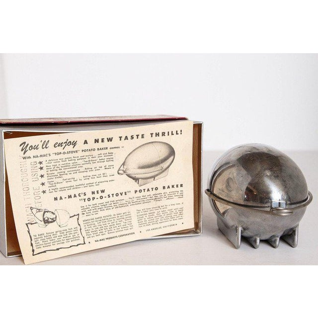 Art Deco Machine Age Potato Baker, Raymond Barton for Na - Mac For Sale - Image 10 of 11