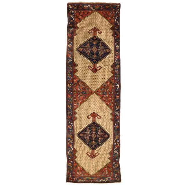 1920s Vintage Persian Malayer Design Rug - 3′5″ × 12′ For Sale - Image 10 of 10