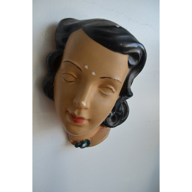 Ceramic Mid Century Women's Face Masks - a Pair For Sale - Image 7 of 13