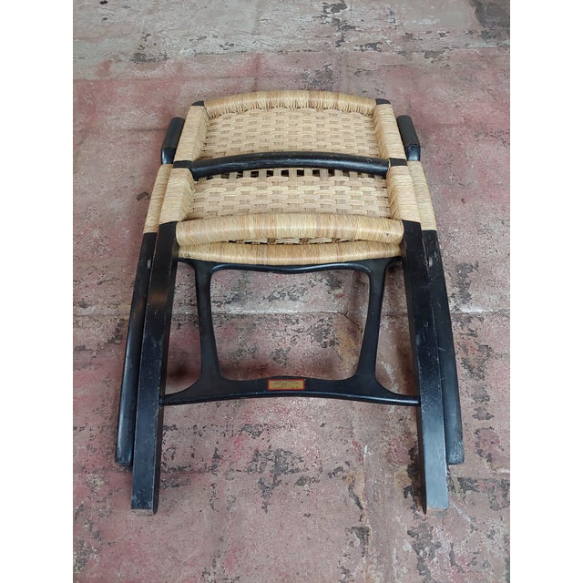 Textile Vintage Hans Wegner Woven Rope Folding Chair For Sale - Image 7 of 10