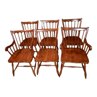 Vintage Pennsylvania House Colonial Style Cherry Dining Chairs - Set of 6 For Sale