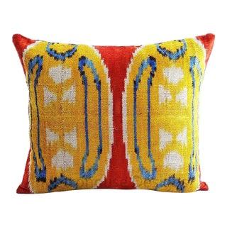 Hassan Vintage Silk Velvet Pillow For Sale