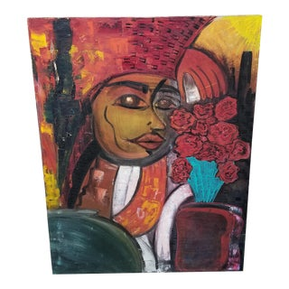 Abstract Cubist Portrait Painting For Sale
