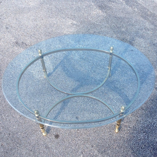 Lebarge Brass Hollywood Regency Coffee Table - Image 4 of 5