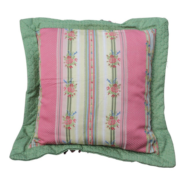 Mid 20 C. French Chair Pillow For Sale