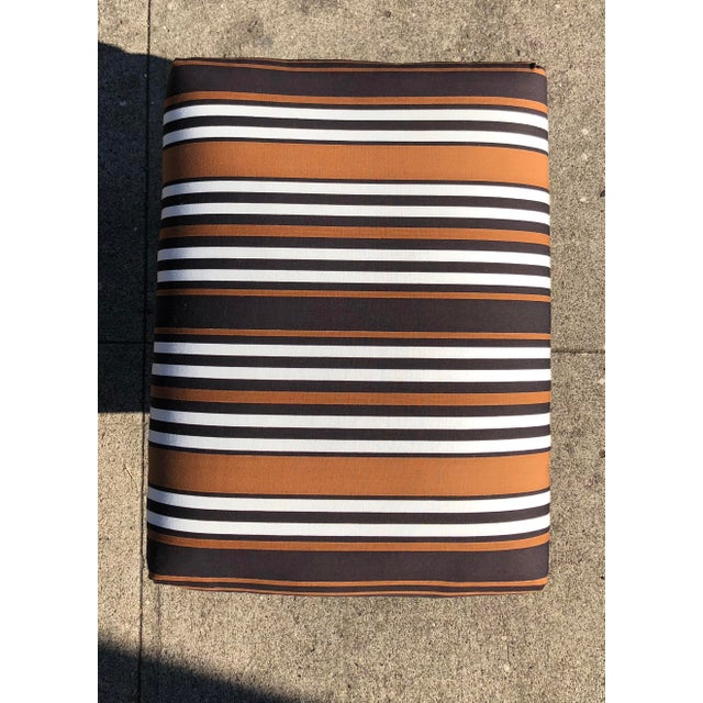 Mid-Century Modern 1970s Vintage Parsons X Base Ottomans- A Pair For Sale - Image 3 of 6