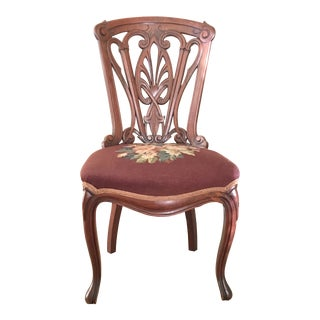 19th Century Victorian Belter Era Reticulated Rosewood Side Chair For Sale