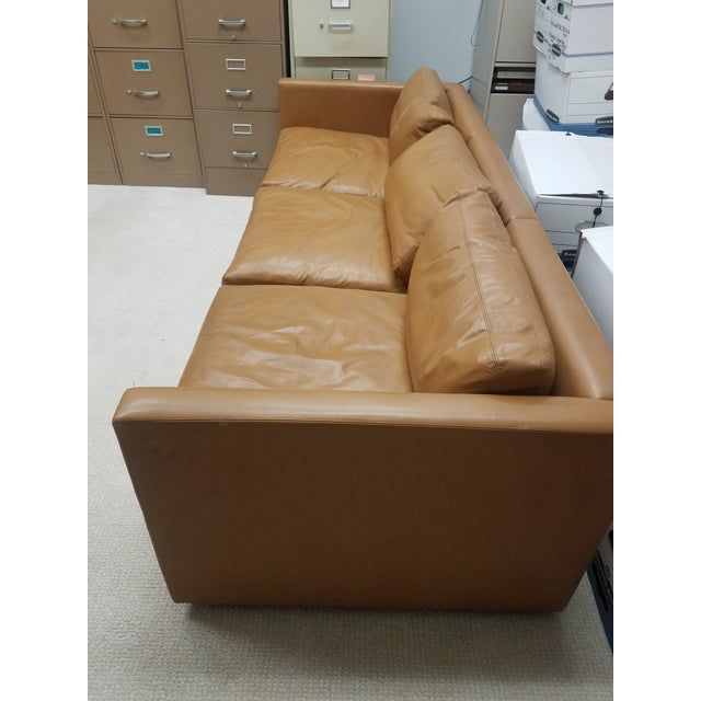 Mid-Century Modern 1970s Vintage Knoll Pfister Brown Leather Sofa For Sale - Image 3 of 13