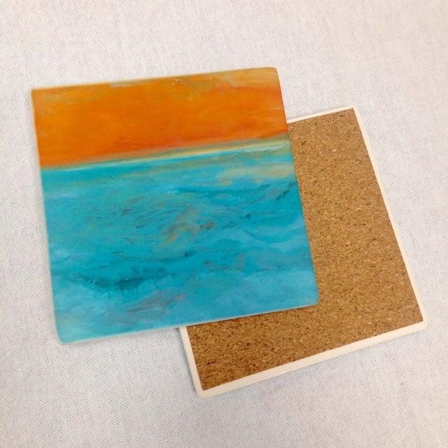 "Ocean Inspired Coasters, ""DayDream"" Sandstone - 4 - Image 3 of 6"