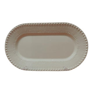 White Oval Ceramic Serving Platter. For Sale