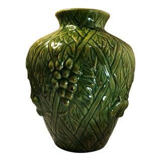 Vintage Majolica Grapevine Green Planter
