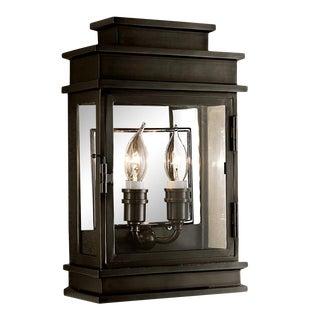 Mayfair Wall Lantern in Black Bronze For Sale