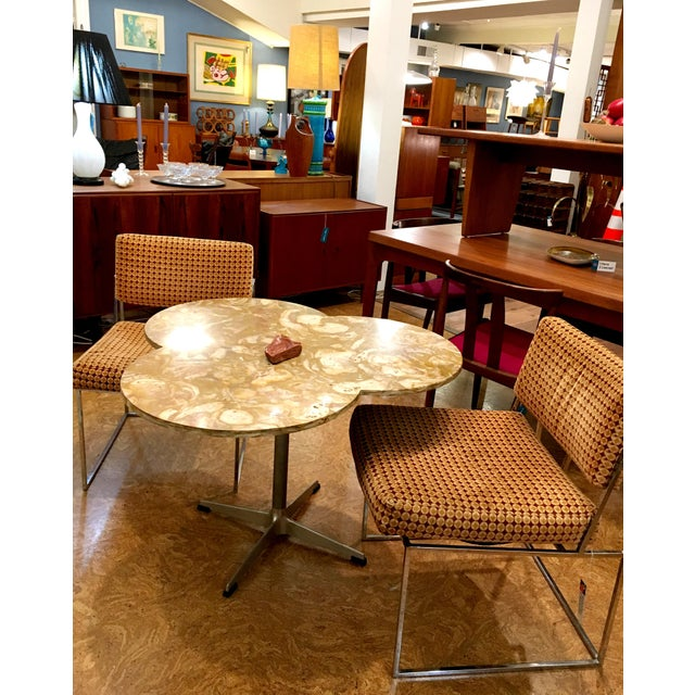 Thayer Coggin Upholstered Chrome Chairs - A Pair - Image 7 of 9