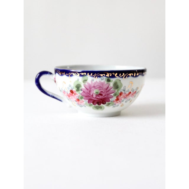 Ceramic Antique Tea Cup With Gilt For Sale - Image 7 of 10