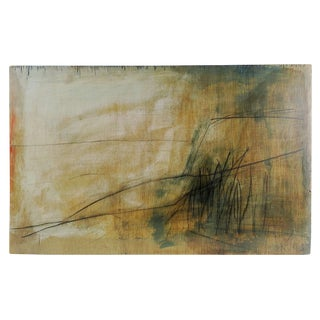 Abstract Landscape Mixed Media Painting For Sale