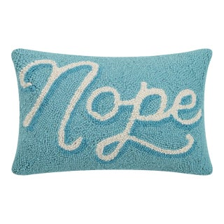 """Nope Hook Pillow, 8"""" x 12"""""""