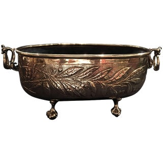 French Polished Brass Oval Jardinière or Planter, 19th Century For Sale