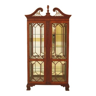 Contemporary Traditional Henkel Harris Beveled Glass Curio China Cabinet