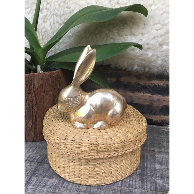 Mid-Century Modern Mid Century Modern Brass Rabbit Bunny Figurine For Sale - Image 3 of 7