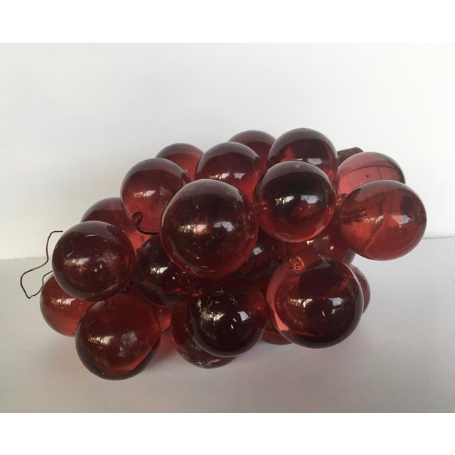 1960's Bunch of Lucite Ruby Red Grapes For Sale - Image 10 of 10