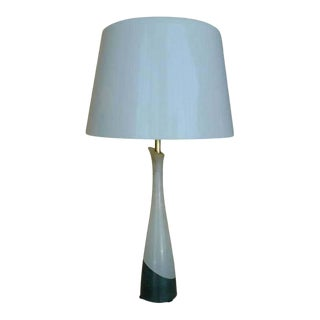 Midcentury Two-Tone Alabaster Little Table Lamp For Sale