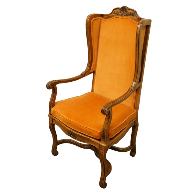 Hekman Furniture rustic country style accent armchair with cane seat.
