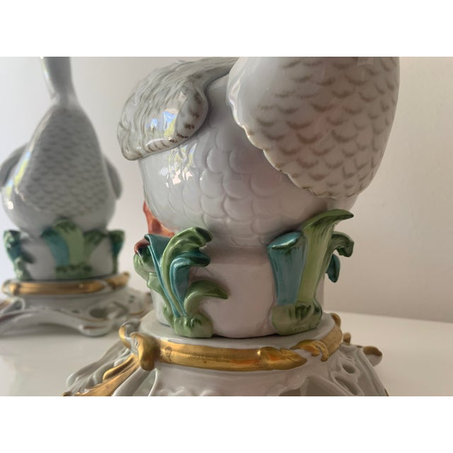 Mid 20th Century Sevres Porcelain Swans - a Pair For Sale In Miami - Image 6 of 12