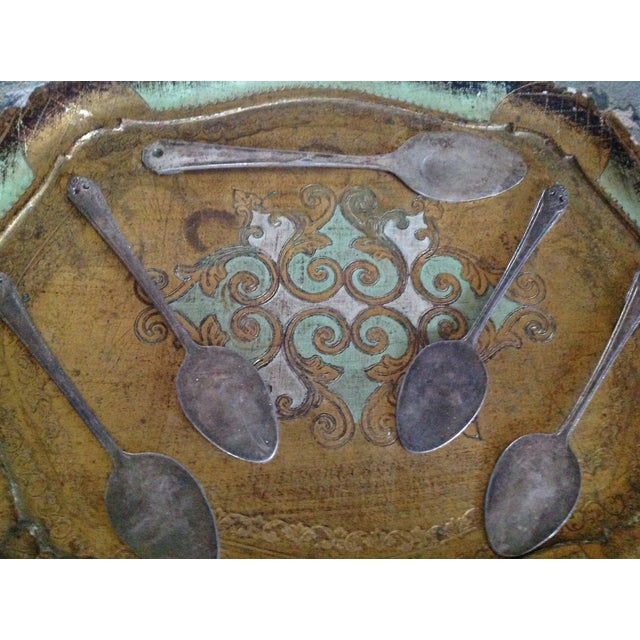 Antique Florentia Tray & Silver Spoon Wall Art - Image 4 of 4