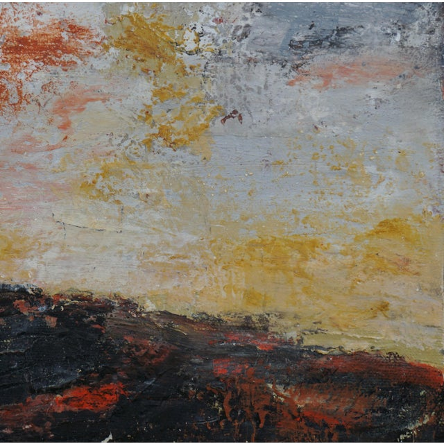 "2020s ""Volcano"" Contemporary Abstract Landscape Mixed-Media Painting by Laurie MacMillan, Framed For Sale - Image 5 of 6"