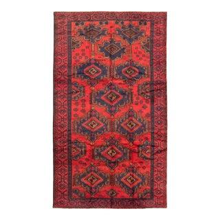 Vintage Tribal Afghan Rug For Sale