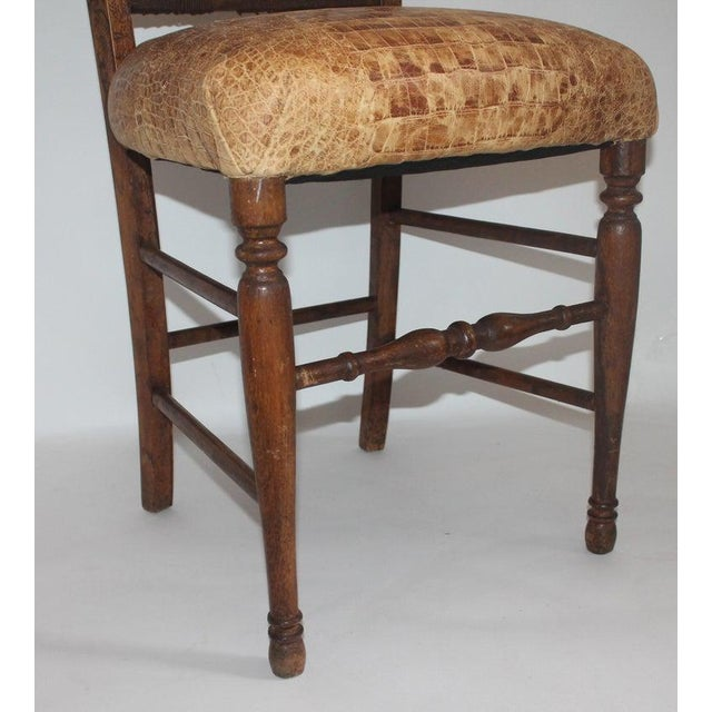 Late 19th Century 19th Century Handmade English Chess Carved Chair For Sale - Image 5 of 10