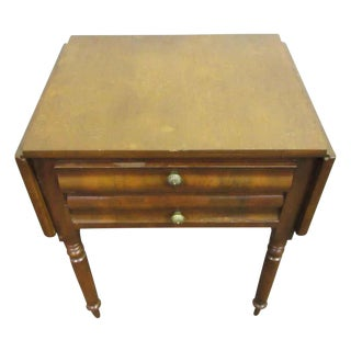 Small Folding Walnut Table For Sale