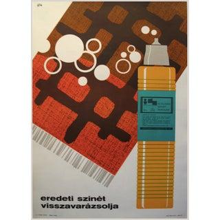 Original Hungarian Swinging 60's Carpet Poster For Sale