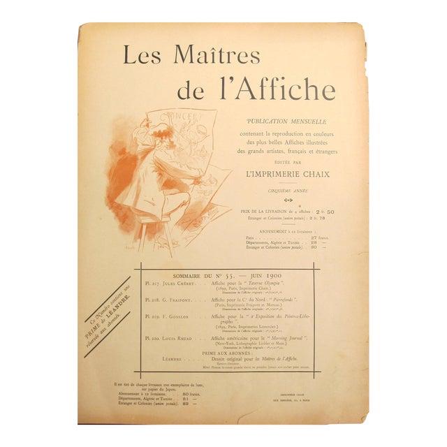 1890s French Art Nouveau Maitres De l'Affiche Poster, Price List \ Cover by Jules Cheret For Sale