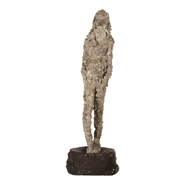 """Silver Lady"" Figurative Sculpture Statue For Sale"