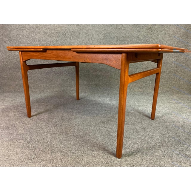 Mid-Century Modern 1960s Scandinavian Modern Teak Draw Leaf Dining Table For Sale - Image 3 of 11