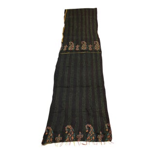 Rug & Relic Black Silk Kantha Table Runner