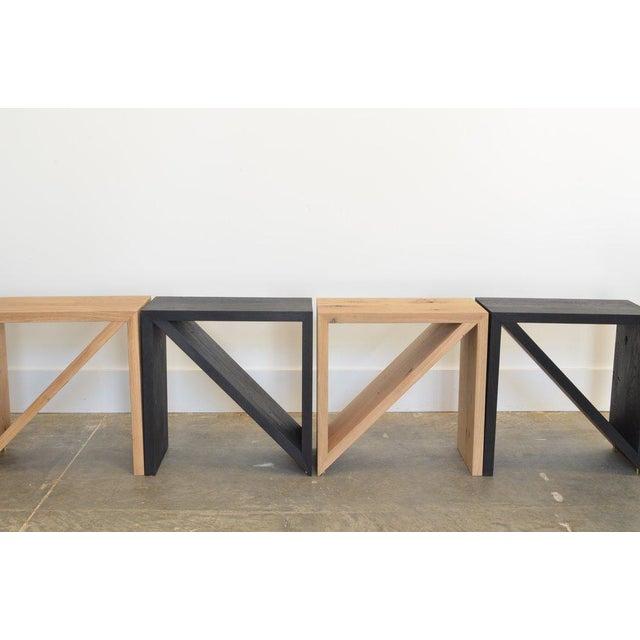 Ozshop Isosceles Side Tables Natural Oak For Sale In Phoenix - Image 6 of 7