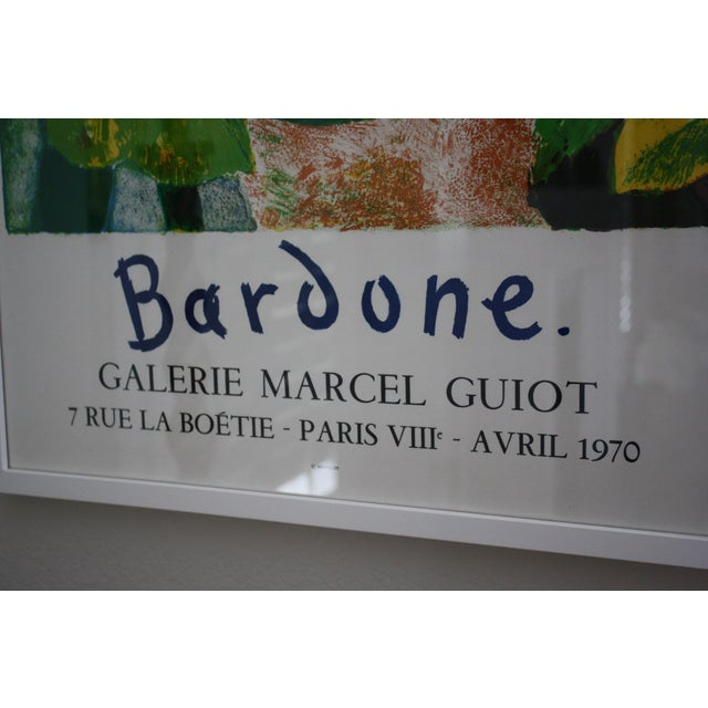 Guy Bardone Framed Exhibition Poster For Sale In Dallas - Image 6 of 6