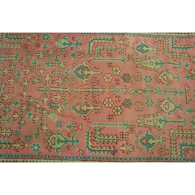Antique Decorative Turkish Oushak Rug - 4' x 6' - Image 3 of 4