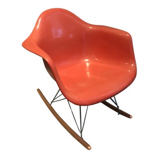 1960s Herman Miller Eames Fiberglass Rocking Chair For Sale