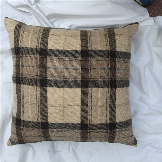 Scottish Wool Plaid Pillows - A Pair For Sale - Image 4 of 5