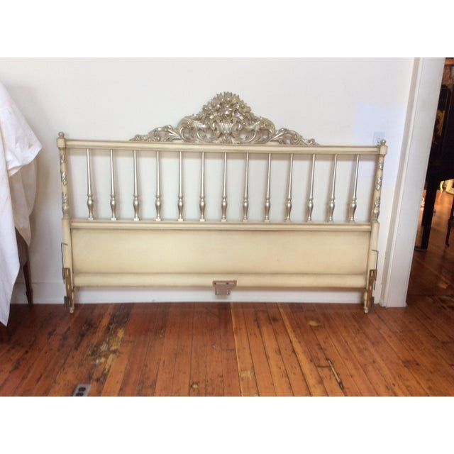 Silvered Accented Carving King Size Headboard - Image 10 of 10